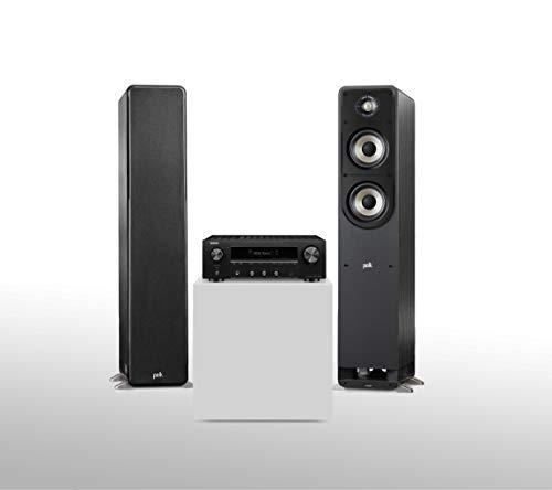 Denon DRA-800H Stereo-Netzwerk-Receiver (2X 145W, UKW/DAB+,WLAN, HDMI, Phono-Eingang), schwarz + Polk Audio S55E Signature Polk Audio Signature S55 E Standlautsprecher, schwarz Schwarz