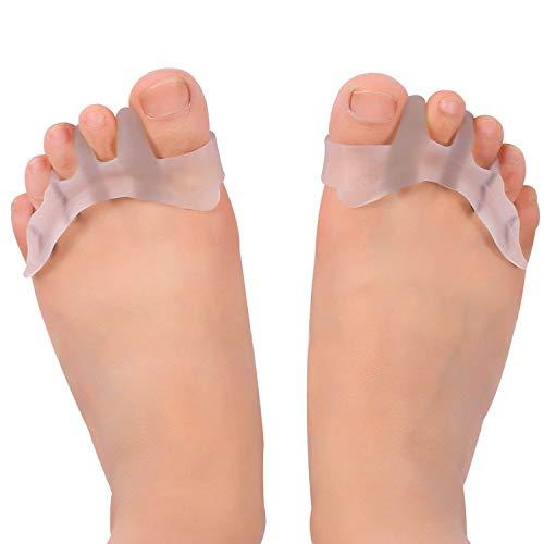 Gel separador y corrector de los dedos de los pies para bailarines, yogis y atletas, tratamiento para juanetes, martillo y Hallux Valgus