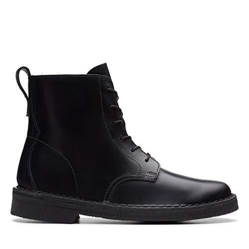 Clarks Damen Mali. Desert Boots, Schwarz (Black Polished Black Polished), 40 EU