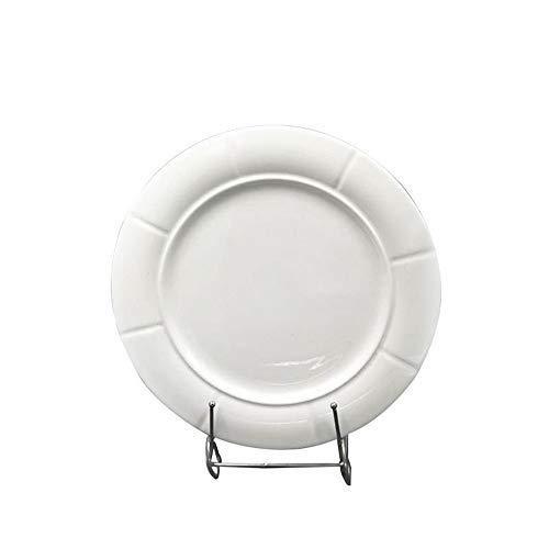 liumengjie Teller Teller Restaurant spezielle kalte Teller warme Teller geformte Teller Reine weiße runde Flache Teller westlichen Teller 8 Zoll