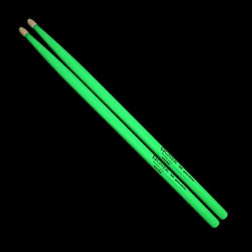 Agner Drumsticks 5A Glow-Sticks US-Hickory (selbstleuchtend), AG5AGLSHY Lemongrün (phosphorisierend)