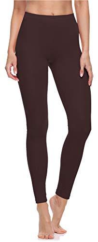 Merry Style Leggings Lunghi Pantaloni Donna MS10-198 (Marrone,S)