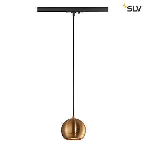 Preisvergleich Produktbild SLV Hängeleuchte LIGHT EYE 150 für 1-Phasen-Stromschiene / Dimmbare Deckenleuchte,  Hängelampe,  Pendelleuchte für Wohnzimmer,  Bar,  Esszimmer / Runde Decken-Lampe,  Kugel-Design (GU10 ES111,  EEK E-A++)