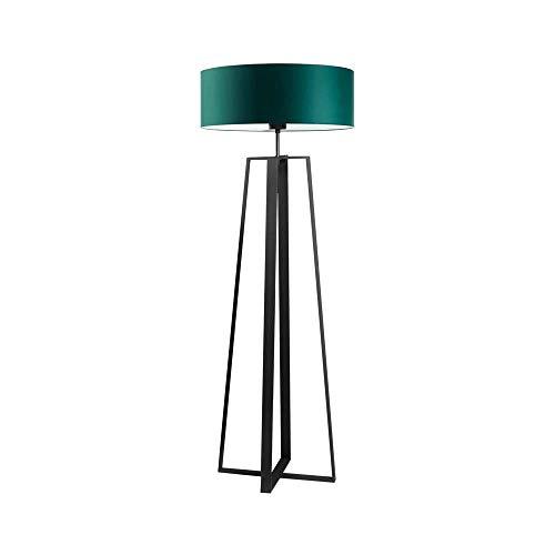 MOSS - Lámpara de pie, color verde botella, marco negro