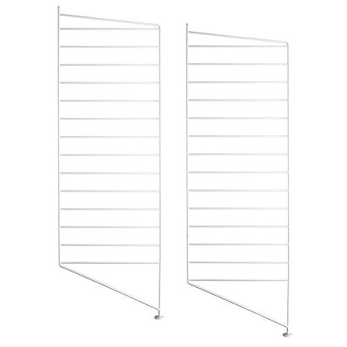 Unbekannt String - Bodenleiter für String Regal 85 x 30 cm (2er Set), weiß