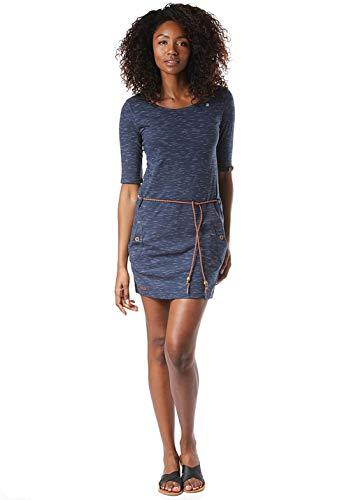 Ragwear Kleid Damen Tanya SLUB 1921-20002 Blau Indigo 2050, Größe:L