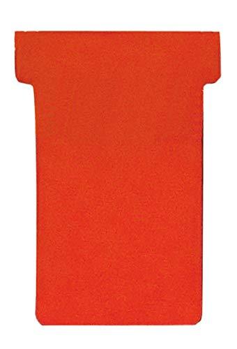 Franken GmbH TK201 T-Karten (Größe 2, Kartenträgermodule, 48 mm, Schachtel) 100 Stück, rot