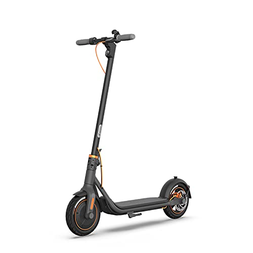Segway Ninebot F40 Electric Kick Scooter, 350W Powerful Motor, 10-inch Pneumatic Tire, Foldable Commuter Electric Scooter for Adults, Dark Grey