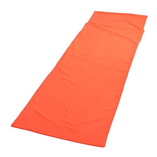 Sjzwt Ultraleichte Outdoor-Schlafsack Liner Polyester-Rohseide tragbares Einzel Schlafsäcke Camping-Reisen Schlaf-Tasche (Color : Orange)