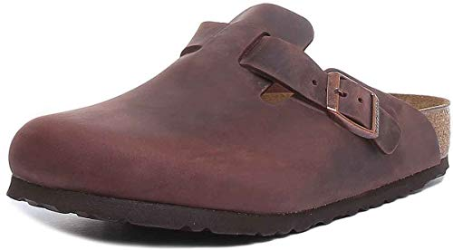 Birkenstock Boston 860133, Zoccoli unisex adulto - Marrone (HABANA), 41 EU