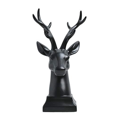 laoonl Deer Sculptures, Deer Figurine, Reindeer Figurines, Deer Figurine Statue, Home Decoration Nordic Style Home Furnishings Ceramic Crafts Ornament