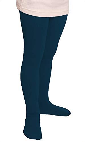 2 Kinder Thermo Strumpfhosen mit flauschigem Innenfleece Vollfrottee tolle Unifarben Grösse 122/128 petrol thermostrumpfhose kinder 110 ringel strumpfhose kinder strumpfhose junge dicke kinder-strumpf