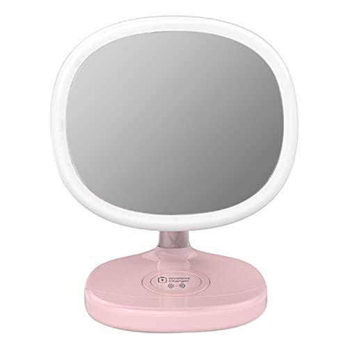 LANKOULI Dimmbare Led Bedside 5 Watt Touch Control Desktop Schminktisch Stehende Werkzeuge Wireless Charger Make-up Spiegel Lampe Helligkeit