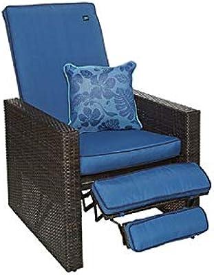 Amazon.com: Naturefun - Silla reclinable ajustable de mimbre ...