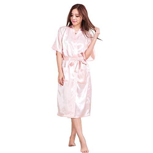 Eaylis Damen Dessous Sexy Lace Sommer Simulation Seide mit Langen Ärmeln Home Service Thin Pyjamas Frauen Nachthemd Unterwäsche
