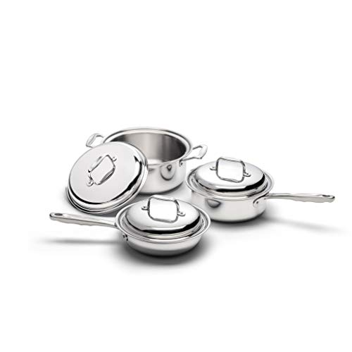 360 Stainless Steel Cookware Set, Handcrafted in the USA, Induction Cookware, Waterless Cookware,...