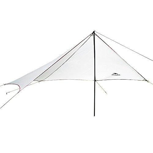HYSENM parasole tenda da sole tenda tendone Canopy campeggio impermeabile ultraleggero per 4persone, grigio