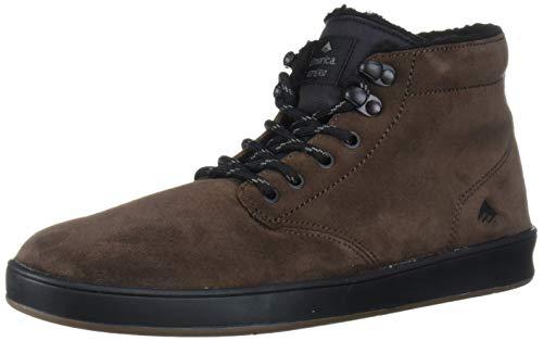 Emerica Men's Romero Laced HIGH Skate Shoe, Brown/Black, 7.5 Medium US