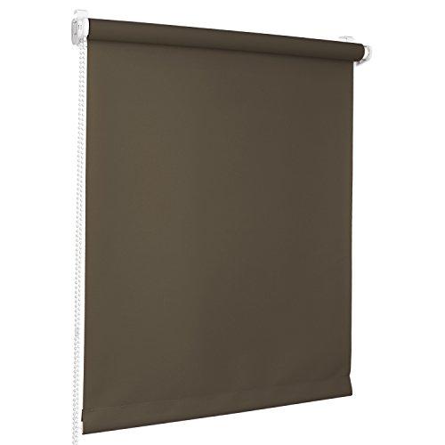 Rolmaxxx ROLLMAXXX Rollos Lichtdurchlässigrollo Fensterrollo Klemmfix ohne Bohren (100 x 220 cm, Braun)
