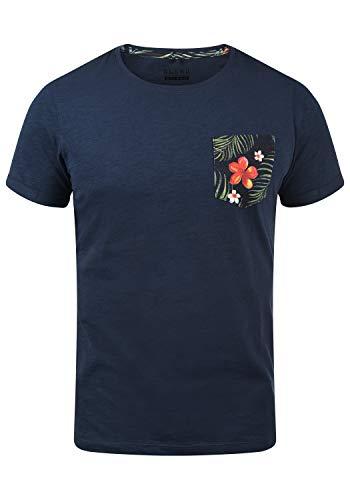 Blend Florens Herren T-Shirt Kurzarm Shirt mit Print und Rundhalsausschnitt, Größe:XXL, Farbe:Navy (70230)
