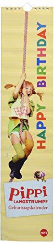 Pippi Langstrumpf Geburtstagskalender long 11x49cm
