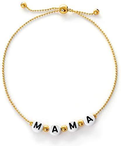 Pulsera de mamá | Joyería para mamá | Pulseras de oro de 14 quilates para mujer | Regalos para mamá nueva regalos para mujeres | cumpleaños único..