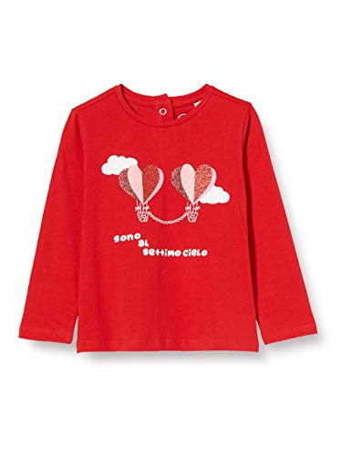 Chicco T-Shirt Manica Lunga Bimba Camiseta de Tirantes, Rojo (Rossol 075), 74 (Talla del Fabricante: 074) para Bebés