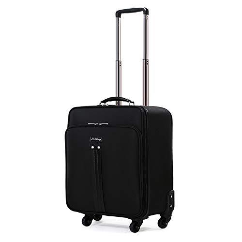 Trolley-Koffer, Reise-Handgepäck, Rollcase Aktentasche Business Bag FENGMING (Farbe : SCHWARZ, größe : 36 * 21 * 45cm)