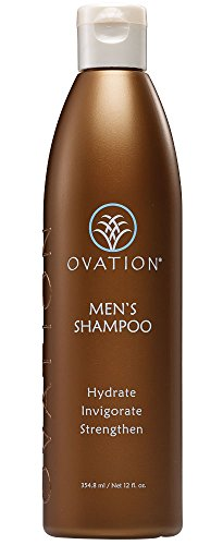 Ovation Men's Shampoo 12oz. - Gentle Cleanser. Removes excess oil, and is perfect for fine hair types. Protects against UV rays and safe for color treated hair. No Parabens. Made in the USA.