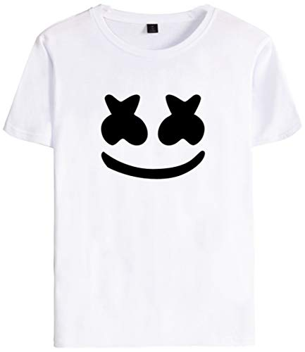 Silver Basic niño Camiseta Unisex DJ Hip Hop Cool Tops de Manga Corta de Verano Blanco-1 XXS…