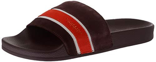 SCOTCH & SODA FOOTWEAR Herren GALVYN Pantoletten, Mehrfarbig (Bordeaux S520), 42 EU