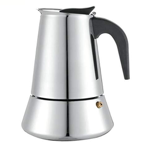 AOSNTEK Olla de café de acero inoxidable de 450 ml para cafetera de moca