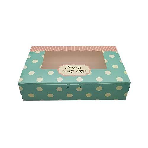 Mu Mianhua 20 cajas de papel para tartas, cupcakes, pasteles, cajas de regalo