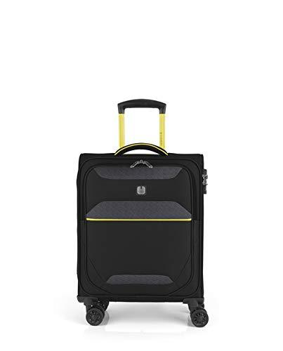 Gabol - Giro | Maleta de Cabina de Tela de 39 x 54 x 20 cm con Capacidad para 33 L de Color Negro