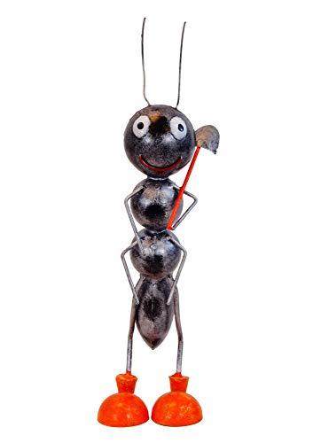 Ameise mit Schaufel über der Schulter Gartenfigur Ameise Gartendekoration