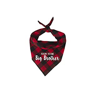 Willowear Dog Bandanas Soon to be Big Brother Red Small