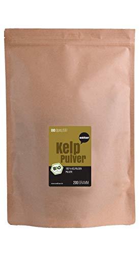 Wohltuer Bio Kelp Pulver aus dem Atlantik | Zertifiziertes Kelp Algenpulver | Natürliche Jodquelle | Smoothie Pulver 200g