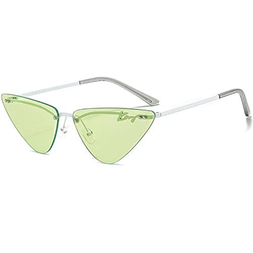 Gafas Sol De Hombre Mujer Polarizadas Sunglasses Gafas De Sol De Ojo De Gato Triangulares De Metal para Mujer Gafas De Sol Sin Ma