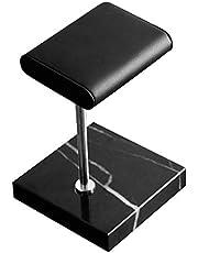 Iycorish Base de mármol negro soporte de reloj de color plateado barra de metal correa de visualización de reloj accesorios de pulsera soporte de colocación de joyas soporte