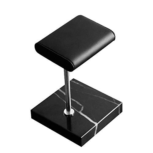 Heyb Base de mármol negro soporte de reloj color plata varilla de metal cinturón reloj accesorios de visualización pulsera soporte de colocación de joyas