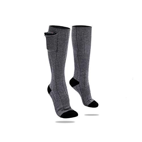 Calcetines térmicos, con pilas, cómodos calcetines térmicos, frío extremo, aislados, deportes al aire libre, esquí, calefacción, calcetines para hombres, mujeres, camping, pesca,ciclismo, motociclismo