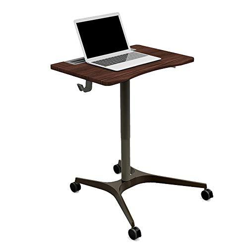 ZzheHou Rednerpult Rollende Laptopwagen Mobil Laptop-Schreibtisch mit Rädern stehend Büro Konferenztisch Lecture Tabelle Nachttisch (Farbe : Braun, Size