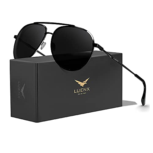 LUENX Men Women Sunglasses Polarized Lens - UV 400 Protection Fashion Style 60MM