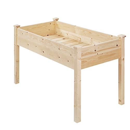 OVASTLKUY Outdoor Wooden Raised Garden Bed Planter Box Kit (022)
