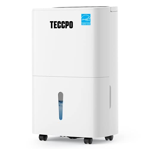 TECCPO 4500 Sq.Ft Dehumidifier, 50 Pint Dehumidifier for Home and Basements, Intelligent Humidity Control, Continuous Draining