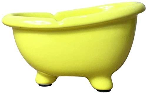 KEEBON 2pcs cenicero cenicero para cenicero Interior con bañera de Tapa Caja de jabón de cenicero Baño Se Puede Dejar Caer un Regalo Creativo de cerámica