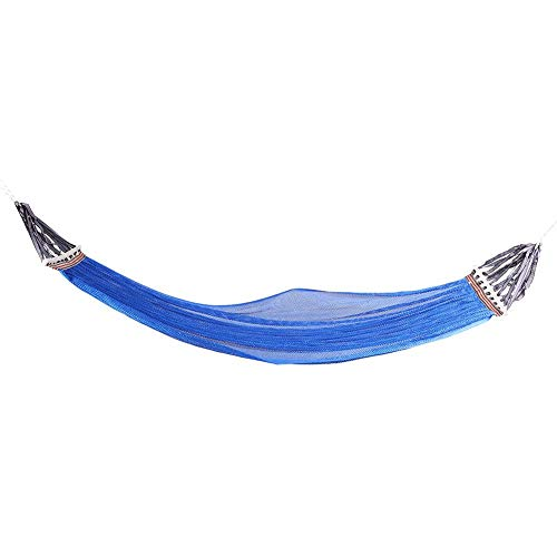 Yosoo Hammock,Blue Portable Outdoor Camping Hammock with Rod Portable Outdoor Camping Courtyard Leisure Supplies (78.7 x 59.1 in)
