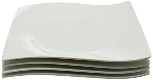 Maxwell & Williams Motion - Set di 4 piatti quadrati Entree, 22 cm