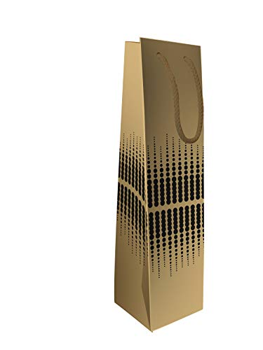 LUDI-VIN - Bolsas de papel de lujo con asas de cuerda para 1 magnum de vino, 10 unidades