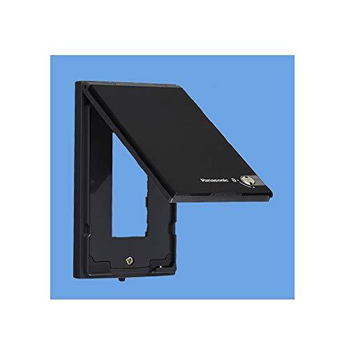 パナソニック コスモシリーズワイド21 防雨コンセントガードプレート 簡易鍵付 IPX4 3コ用 ブラック WTF7983B